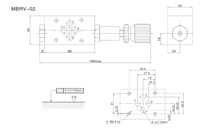 MBRV hydraulic pressure reducing valve