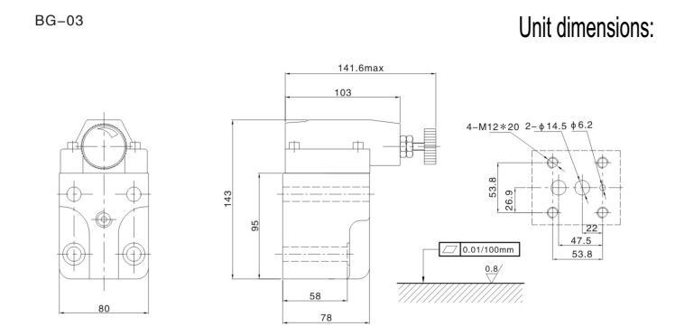 BG adjustable hydraulic pressure relief valve,50 psi pressure relief valve