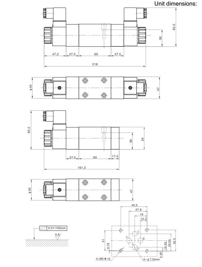 WEHD rexroth hydraulic solenoid valve,electric hydraulic control valve