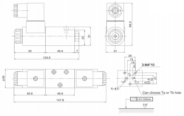 4WE3,NG3 valve,4WE3-61