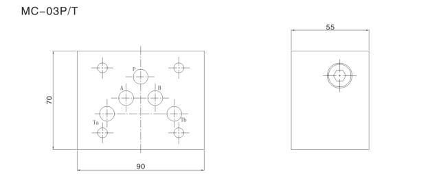 MC rexroth modular hydraulic cylinder check valve