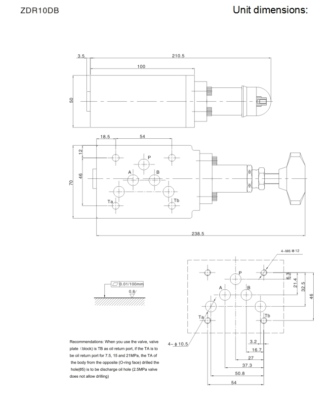 ZDR-40 rexroth pressure reducing valve